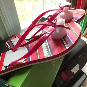 Kate Spade Nova Sandals. NIB hot pink size 10